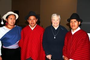 Olga,Edison,Teresita et Ricardo au Forum des Angles pour le jubilé