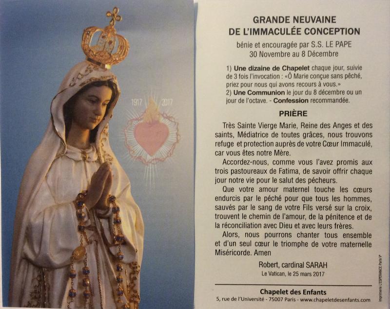 Neuvaine – Ensemble paroissial catholique de Villeneuve lez Avignon